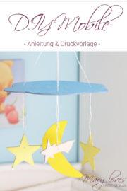 Basteln für's Baby: DIY Mobile