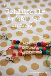 Schlüsselanhänger mit Namen basteln