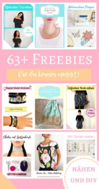 63 Freebies / Nähen & DIY!