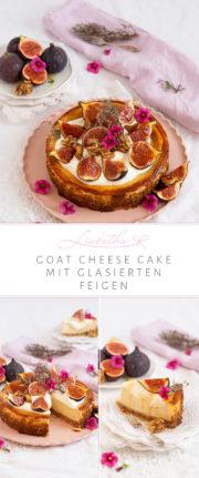 """""""GOAT CHEESE CAKE"""" MIT GLASIERTEN FEIGEN UND KARAMELLISIERTEN THYMIAN WALNÜSSEN"""