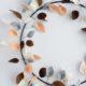 Bunter Herbst-Ring mit Blättern aus Filz