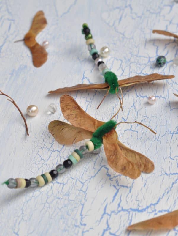 Libellen aus Ahorn - Basteln im Herbst