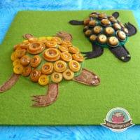 Schildkröten im Fühlbuch