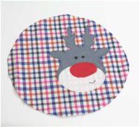 Applikationsvorlage Rudolph für weihnachtliches Nähen