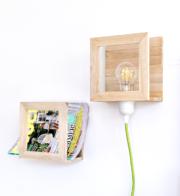 Lampe aus Holzleisten