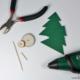 Weihnachtliche Tischdeko mit Holzscheiben