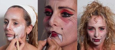 Halloween Verkleidung Vampir-Lady selber machen