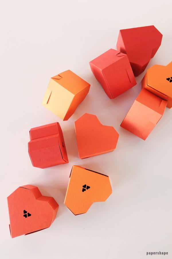 Herzbox aus Papier selber machen