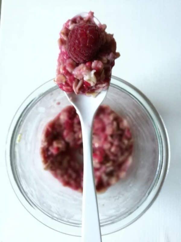 Easy Himbeer-Porridge