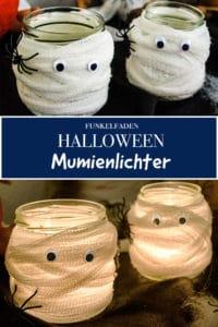 Mumienlichter für Halloween