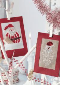 Gestickte Weihnachtskarte
