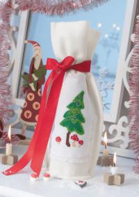 Weihnachtliche Flaschenhülle