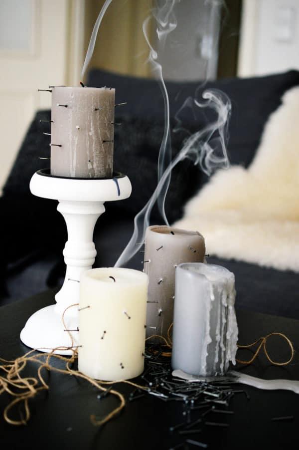 DIY Gequälte Kerzen