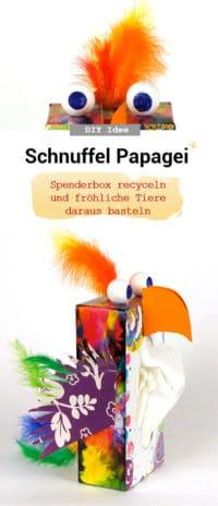 Schnuffl Papagei Spenderbox