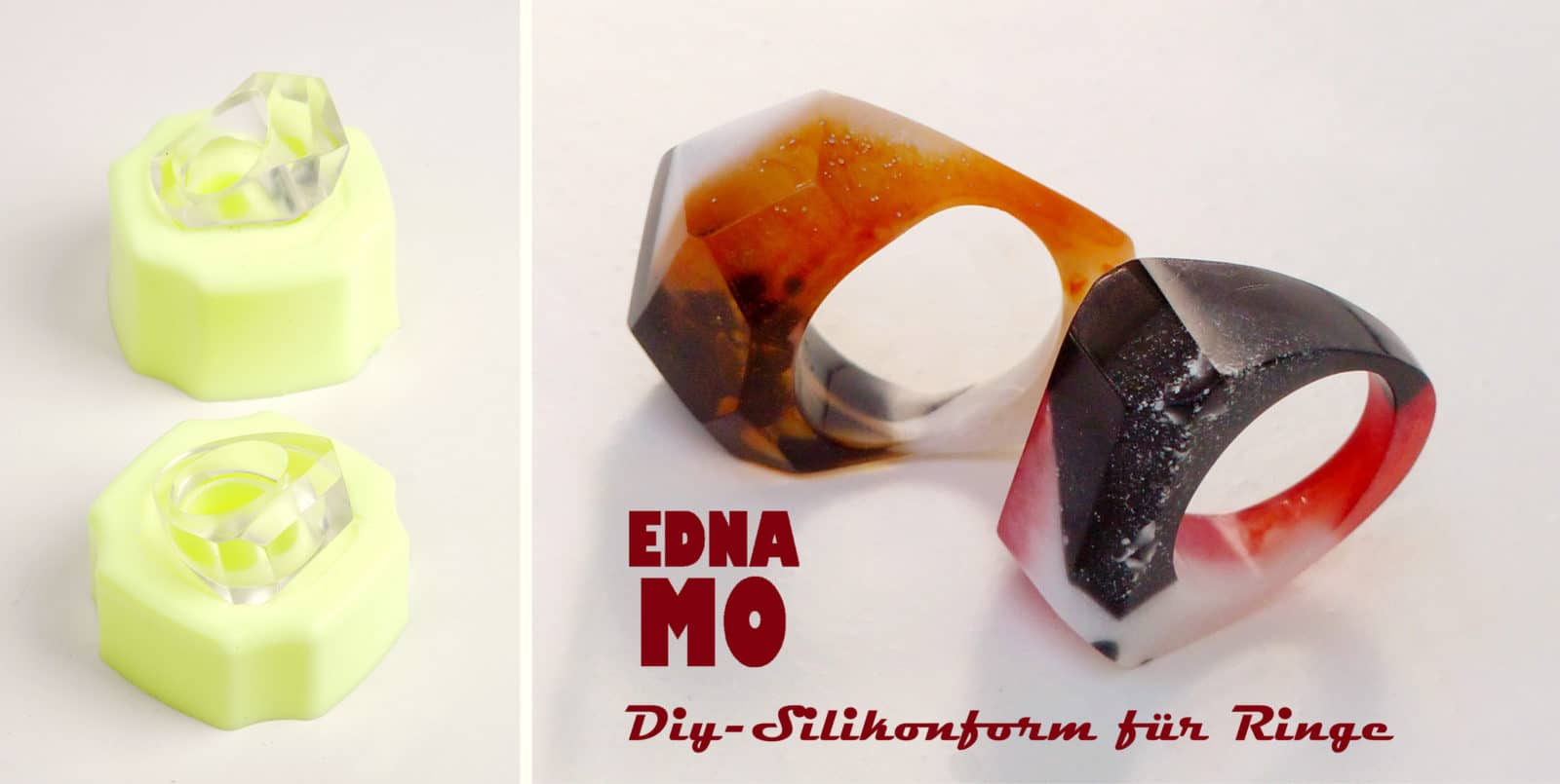 MILISTEN Silikon Ring Formen DIY Handwerk Epoxy Ring Form Schmuck Ringe Kreis Gussformen f/ür Schmuckherstellung Lieferungen