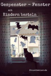 Gespenster- Fenster mit Kids basteln