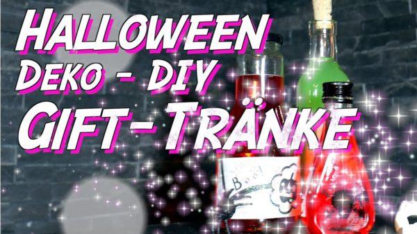 Halloween Deko DIY - Zaubertränke - Dekoration für HalloweenParty selber machen
