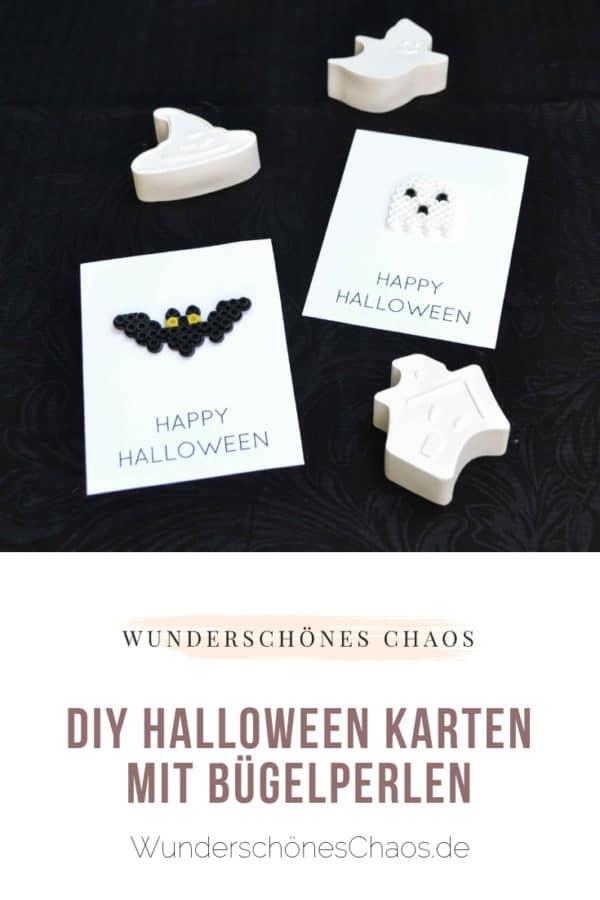 DIY Halloween-Bügelperlenkarten