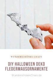 DIY Halloween Deko – Fledermausornamente