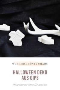 DIY Halloweendeko aus Gips
