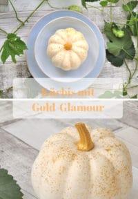 Kürbis mit Gold-Glamour