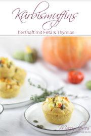 Herzhafte Kürbismuffins mit Feta & Thymian