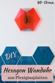 Hexagon-Wanduhr aus Plexiglasplatten