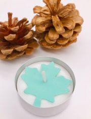 Herbstdeko selber machen - Teelicht mit Ahorn Blatt