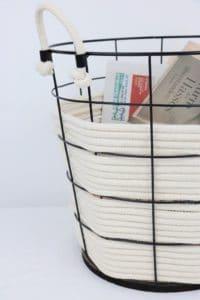 Seil Papierkorb Upcycling