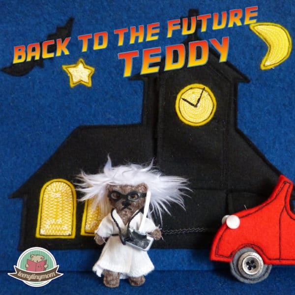 Teddy geht als Doc Brown zur Halloweenparty