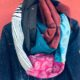 Loop aus Jeans- und Stoffresten