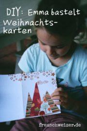 Weihnachtskarte für Kinder zum selberbasteln