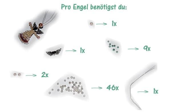 Weihnachtsdeko Material.Diy Weihnachtsdeko Engel Basteln Aus Perlen Handmade Kultur