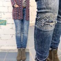 Jeans flicken // visible mending