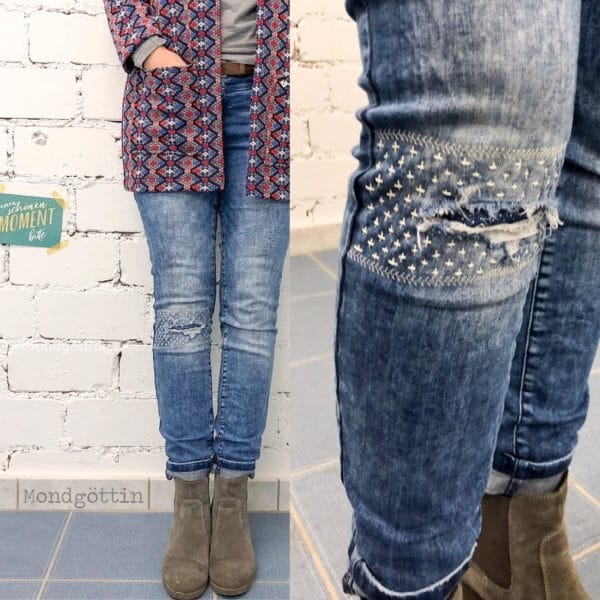 Jeans flicken // visible mending