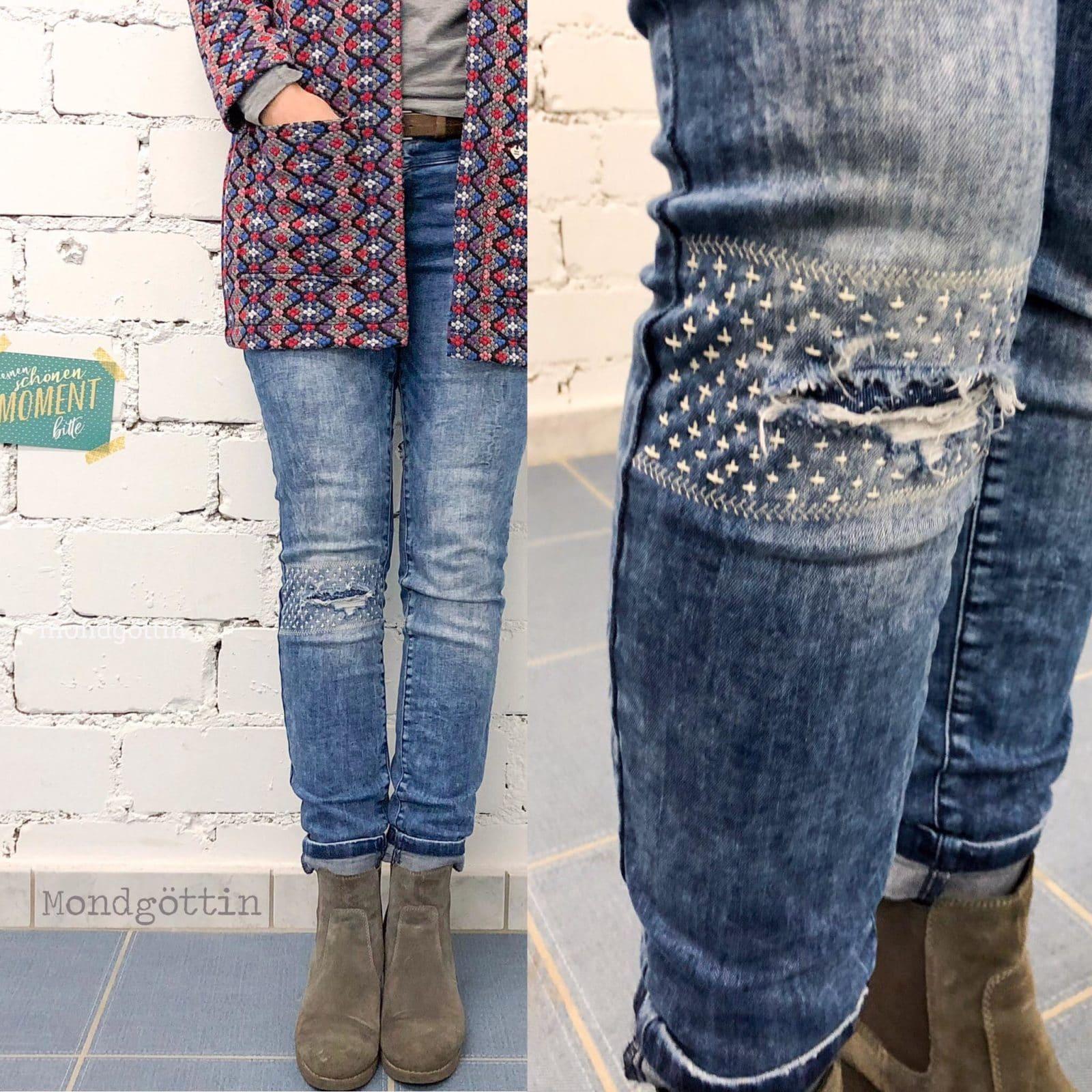 cf86adcad937 Jeans flicken // visible mending - HANDMADE Kultur