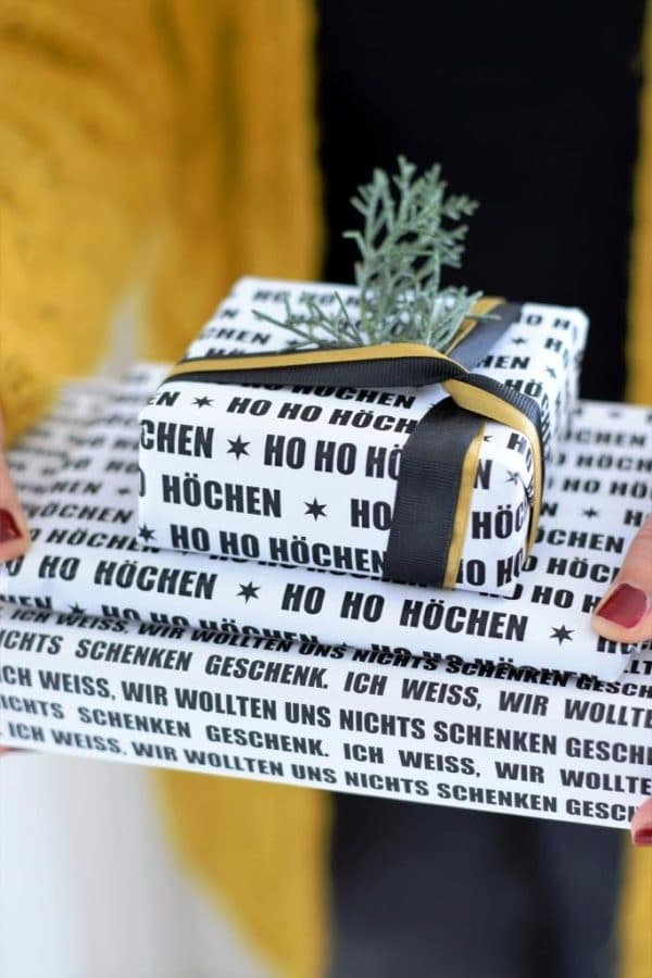 Ho Ho Höchen ... Geschenkpapier GRATIS ausdrucken (Freebie!)