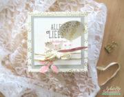 Geburtstags - Explosionsbox in gold und rosa