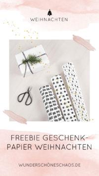 Weihnachts-Geschenkpapier zum Ausdrucken