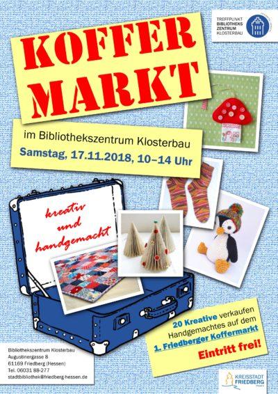 1. Friedberger Koffermarkt im Bibliothekszentrum Klosterbau