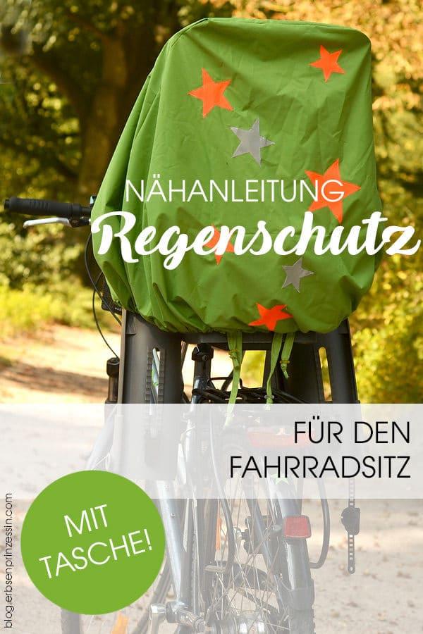 Nähanleitung: Regenschutz für den Fahrrad-Kindersitz