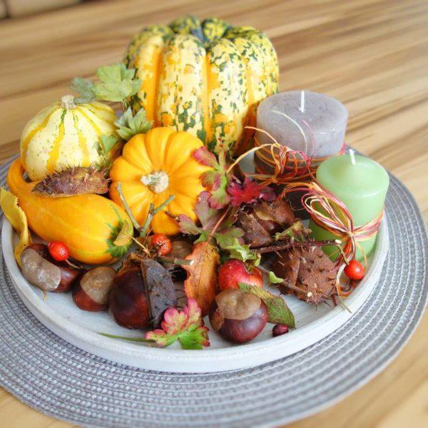 DIY Herbstdeko - Herbstteller ganz easy dekorieren