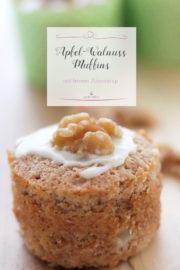 Apfel-Walnuss-Muffins mit Ahornsirup
