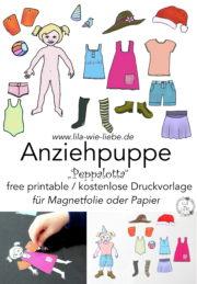 Anziehpuppe - kostenlose Druckvorlage