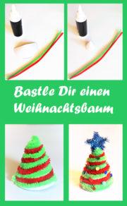 Bastle einen kleinen Weihnachtsbaum aus Pfeifenputzern/Chenilledraht