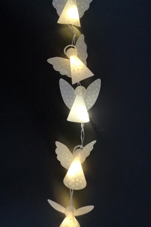 Mini-Weihnachtsengel-Lichterkette [mit Vorlage]