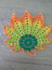 Herbst blätter häkeln,Blatt 1
