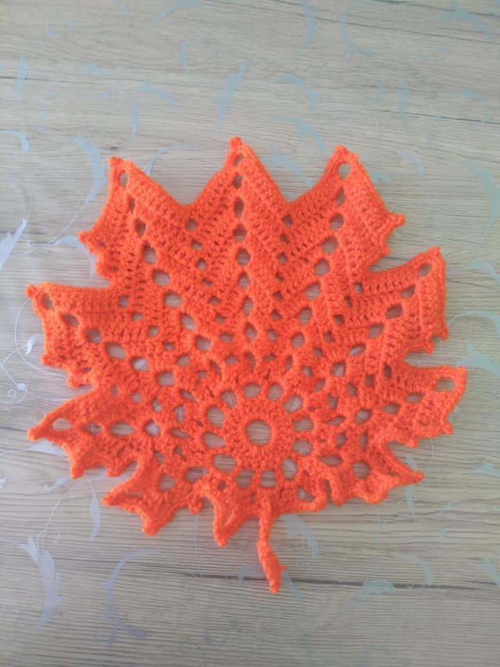Herbst Blätter Häkelnblatt 1 Handmade Kultur