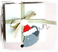 Weihnachtsmaus basteln