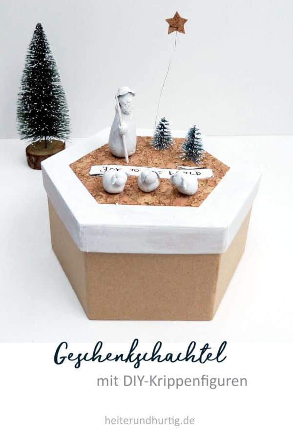 Weihnachtsschachtel mit DIY Krippenfiguren